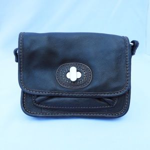 F45 Fossil Leather Crossbody Small